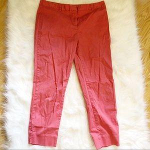 Vineyard Vines Coral Pink Chino Cropped Pants